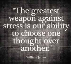 greatest weapon against stress