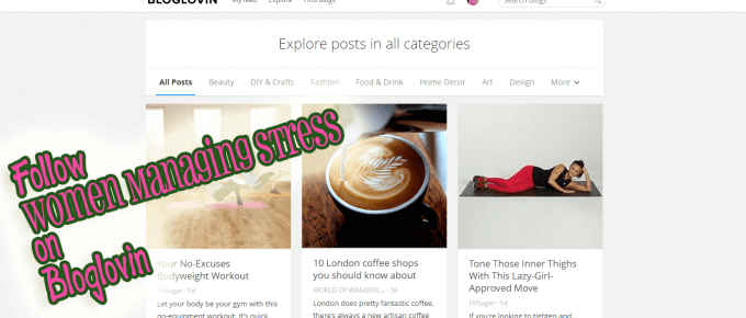 Follow Women Managing Stress on Bloglovin